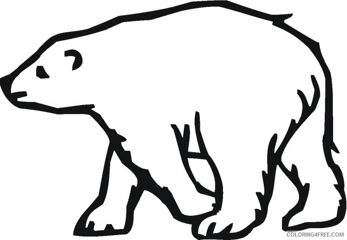 polar bear outline best NPsjDK coloring