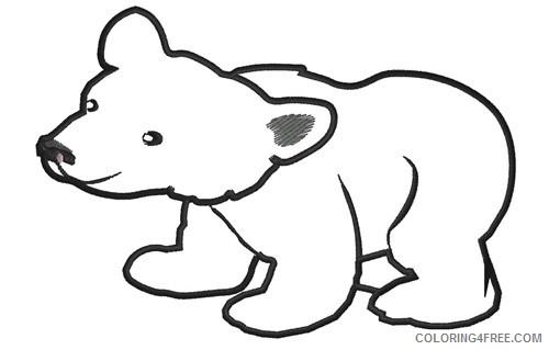 polar bear outline d2C7jR coloring