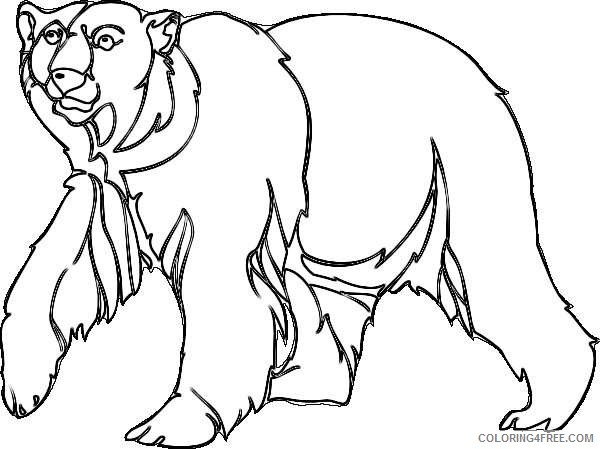 polar bear walking online HSyafk coloring