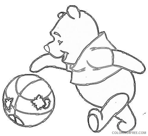 pooh bear EVY4G5 coloring