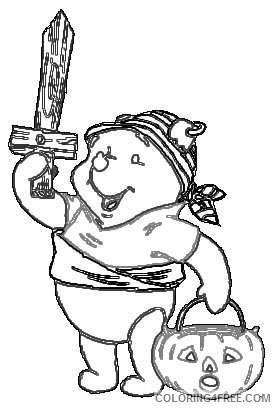 pooh bear first birthday IgAdZT coloring