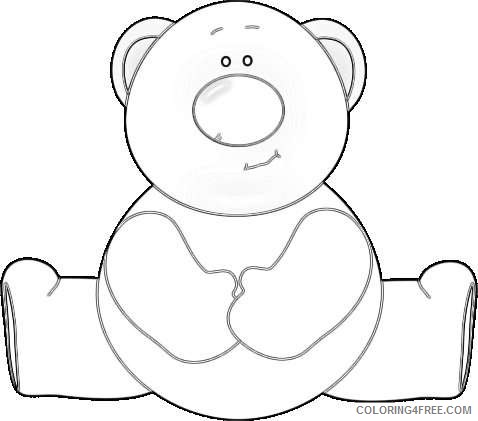 red nose bear big brown bear with a big red nose 5Lcqkk coloring