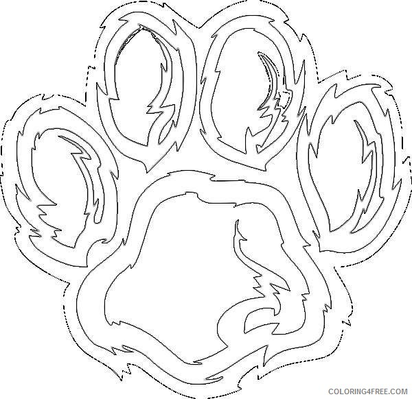 related pictures grizzly bear paw online 1NTK4S coloring