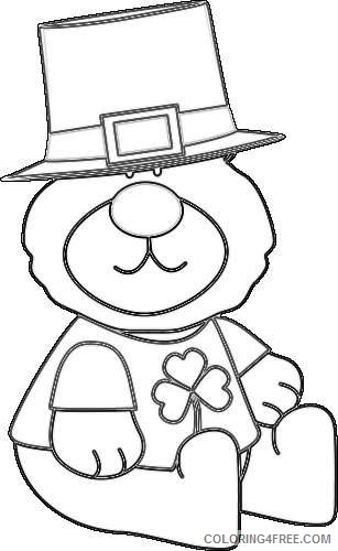saint patrick s day bear saint patrick s day bear zUbZW4 coloring
