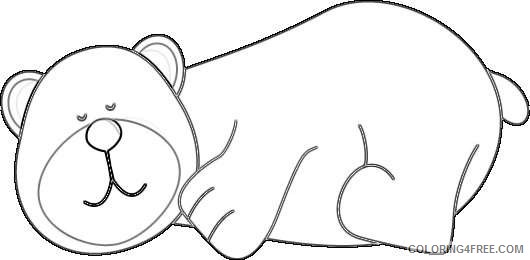 sleeping bear new calendar template site PsoCmW coloring