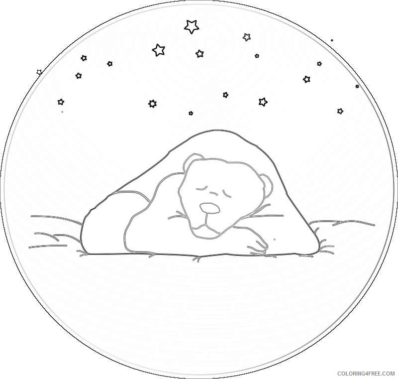 sleeping bear under the stars xf0I2j coloring