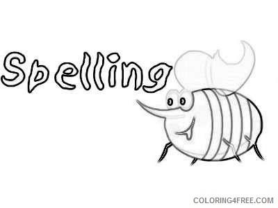 spelling bee borders best 3girgT coloring