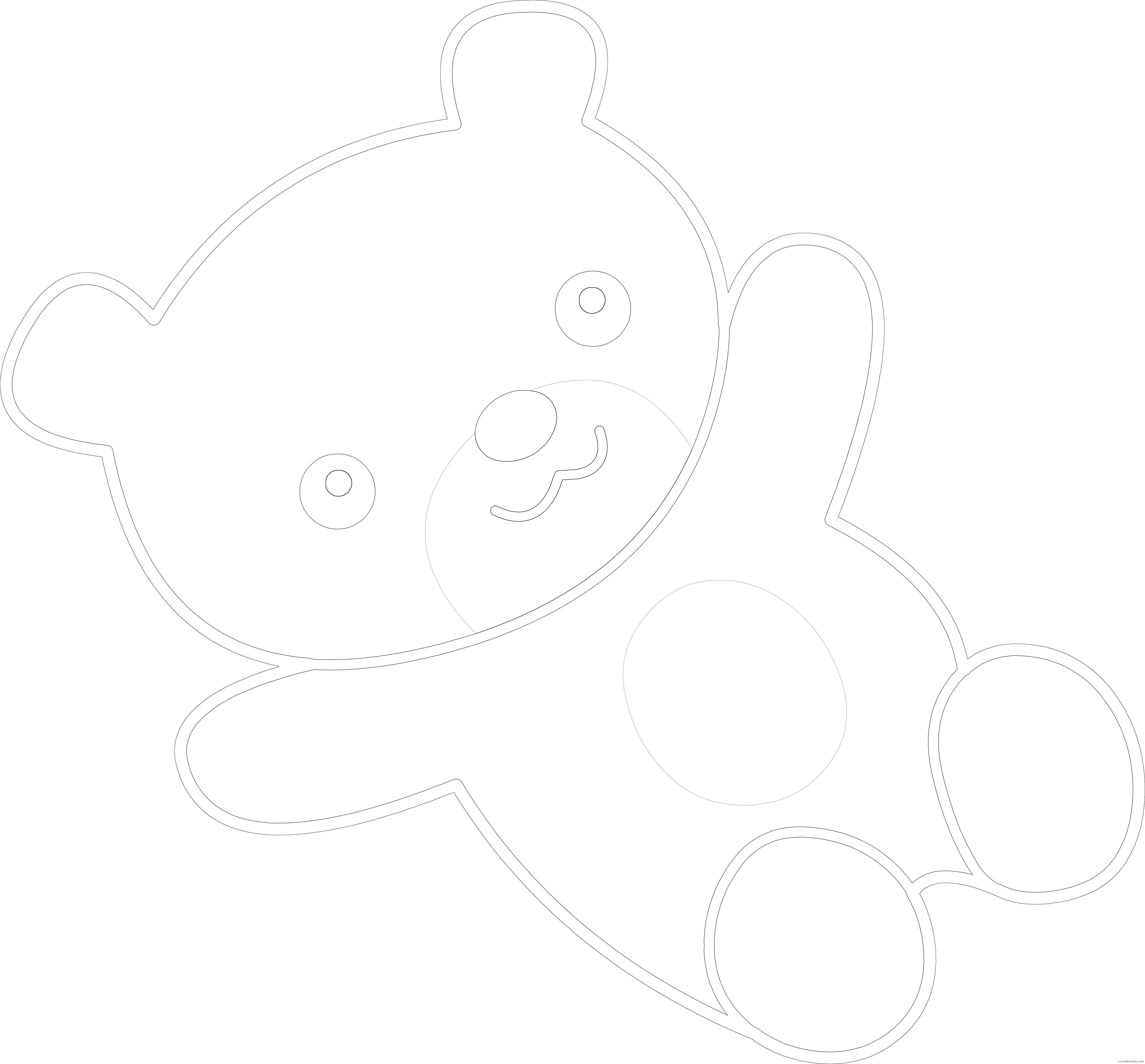 teddy bear 2 coloring