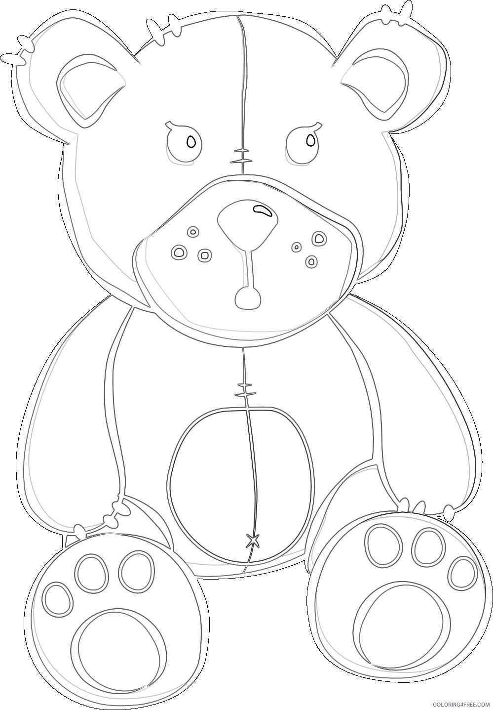 teddy bear 3 coloring_002