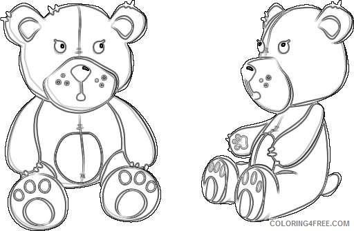 teddy bear 4 coloring_001