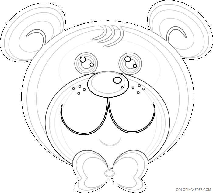 teddy bear coloring_001