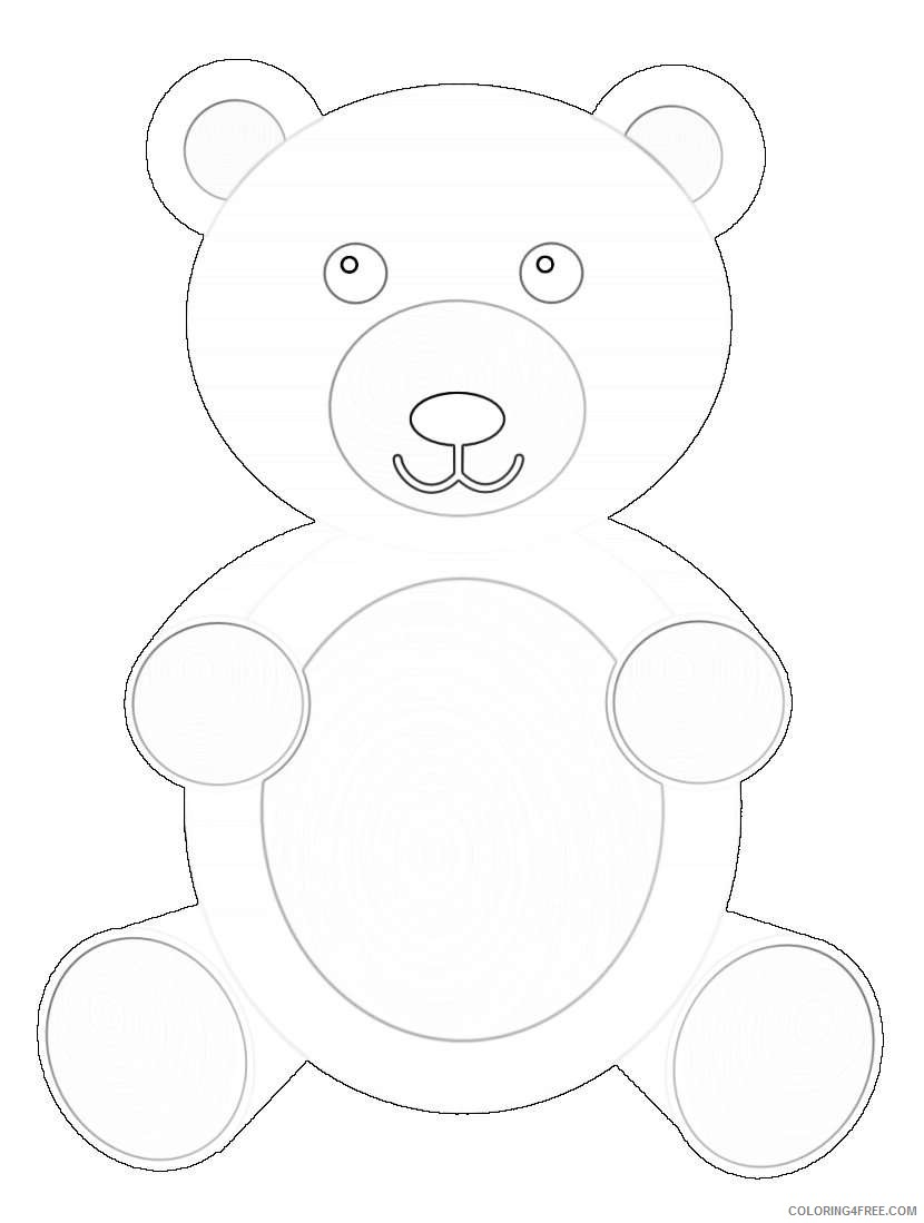 teddy bear coloring_002