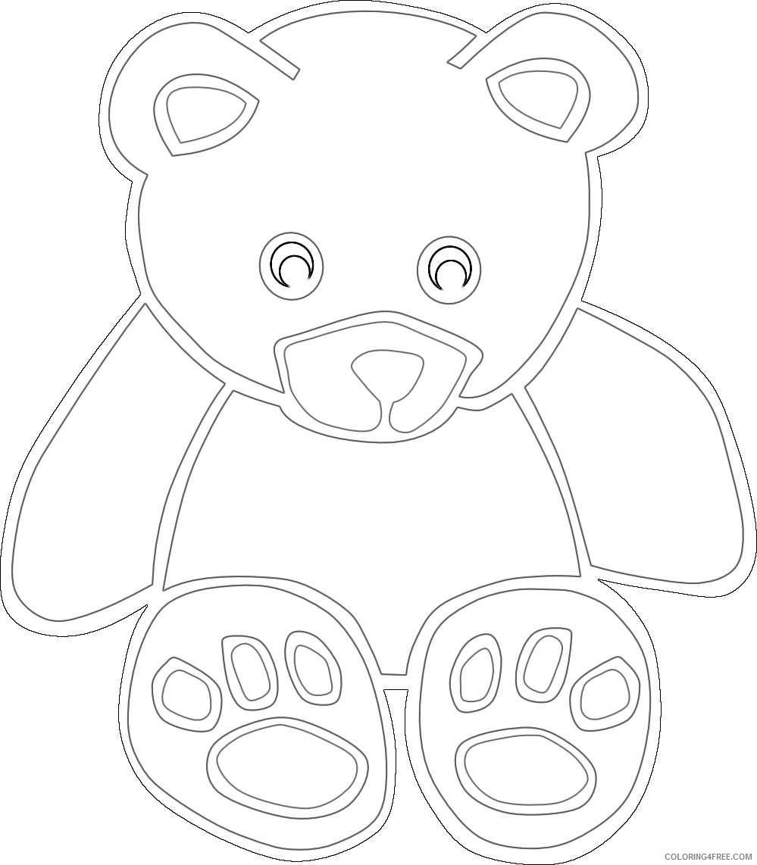 teddy bear coloring_003
