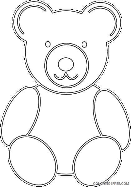 teddy bear pictures coloring