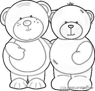 two cuddly bears two cuddly bears standing side by side SRbtQC coloring