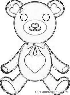 valentine s day png bear with heart set png 70 png qlgJvZ coloring