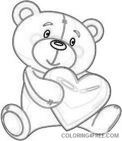 valentine s day png bear with heart set png 70 png s5VQV6 coloring