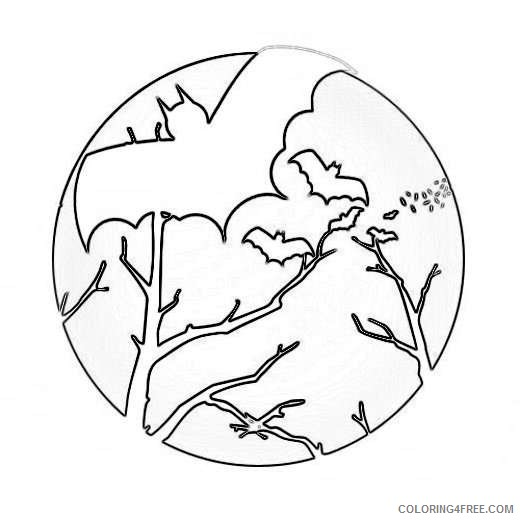Full Moon Outline Coloring Coloring Pages