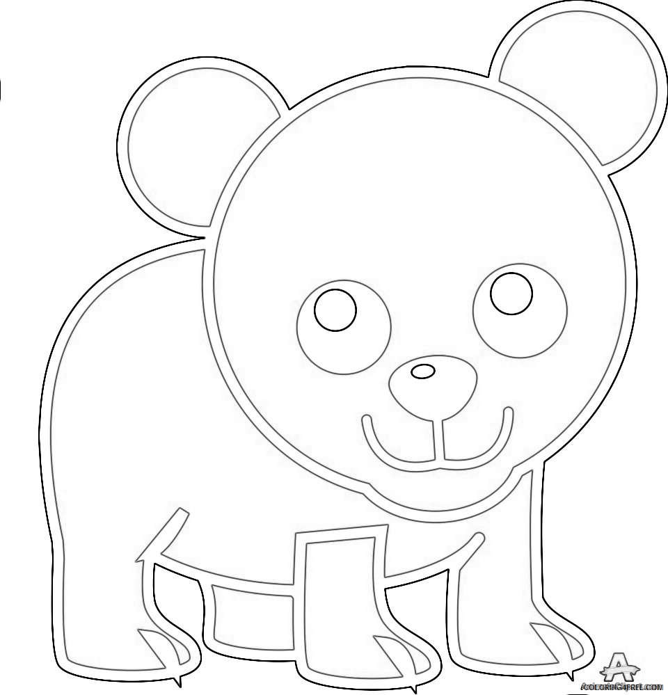 walking little bear design download coloring