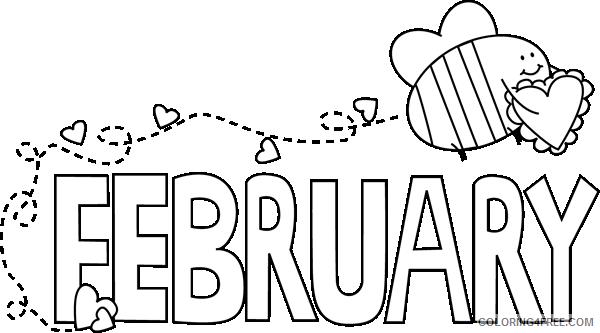 white february valentine love bee black and white february OesbkJ coloring