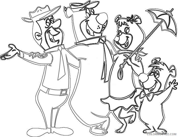 yogi bear and all related characters and elements are trademarks of Ihrsrq coloring