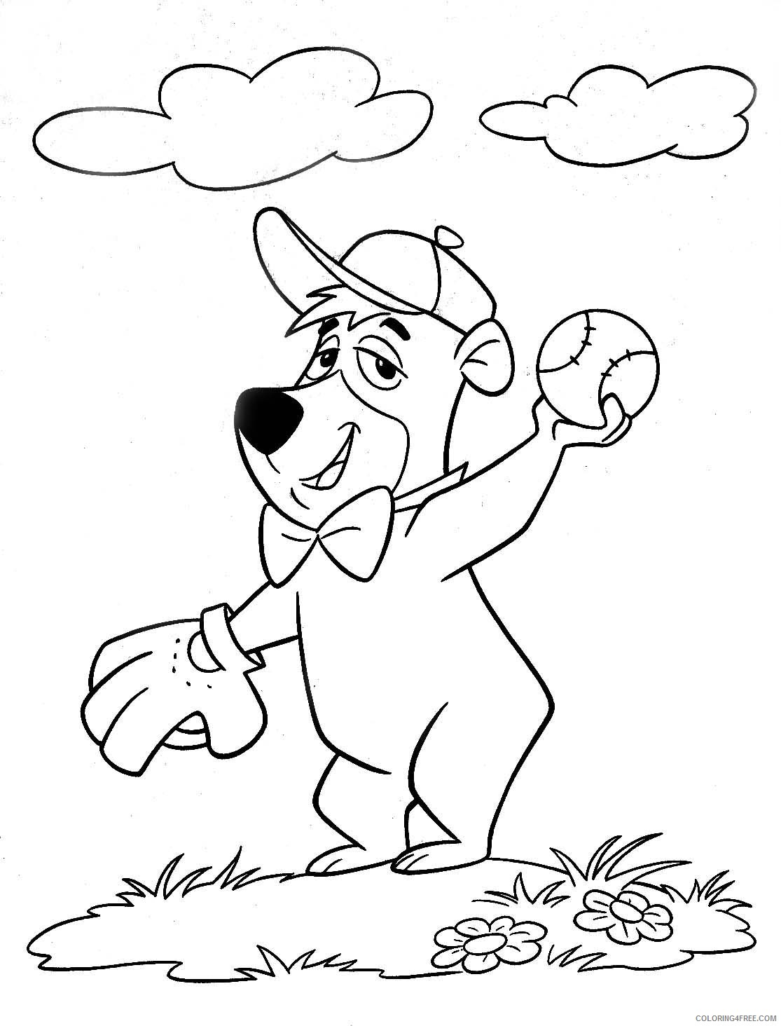 yogi bear boo boo bear coloring pages for kids printable download rzOHSp coloring