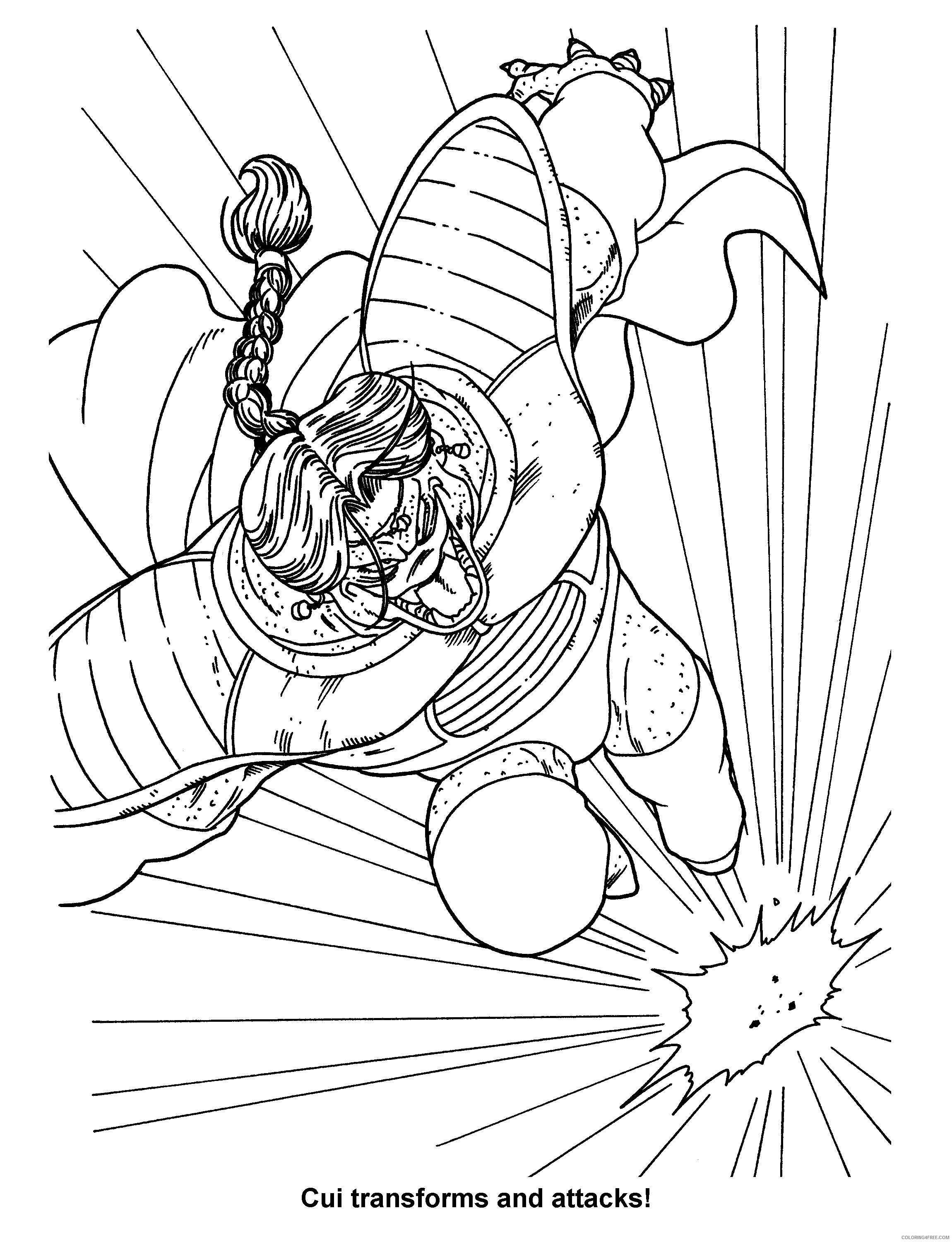 009 dragon ball z cui transforms and attacks Printable Coloring4free