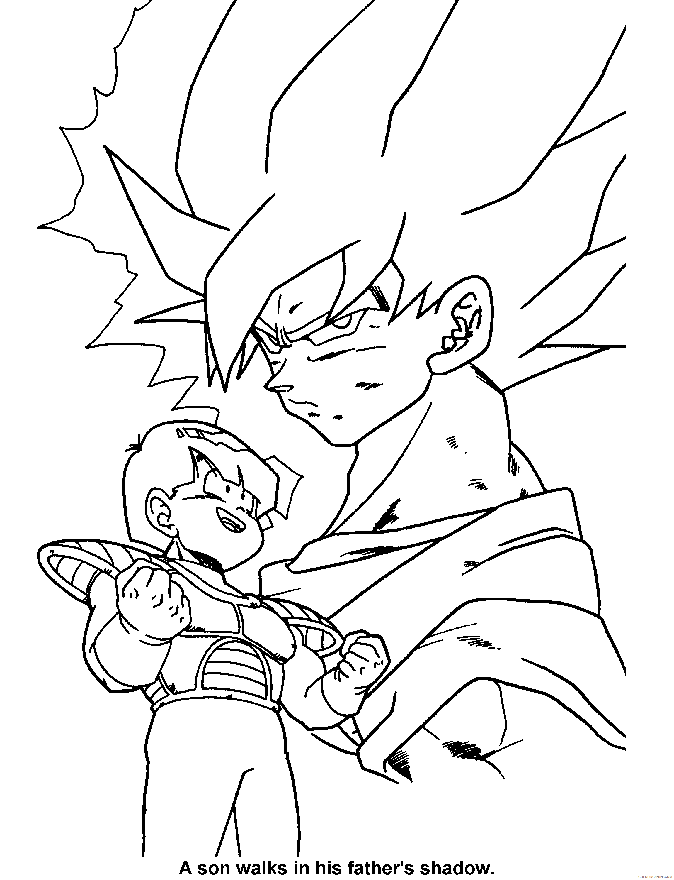 014 dragon ball z a son walks in his fathers shadow Printable Coloring4free