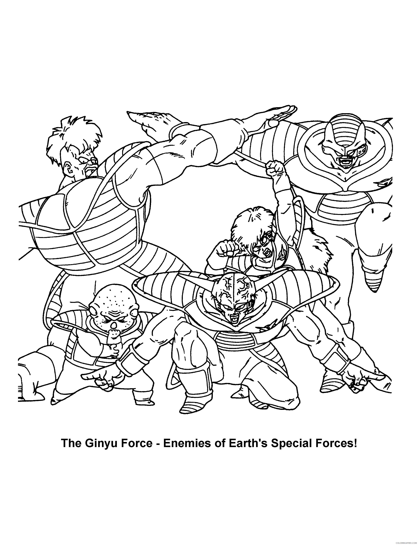 015 dragon ball z the ginyu force Printable Coloring4free