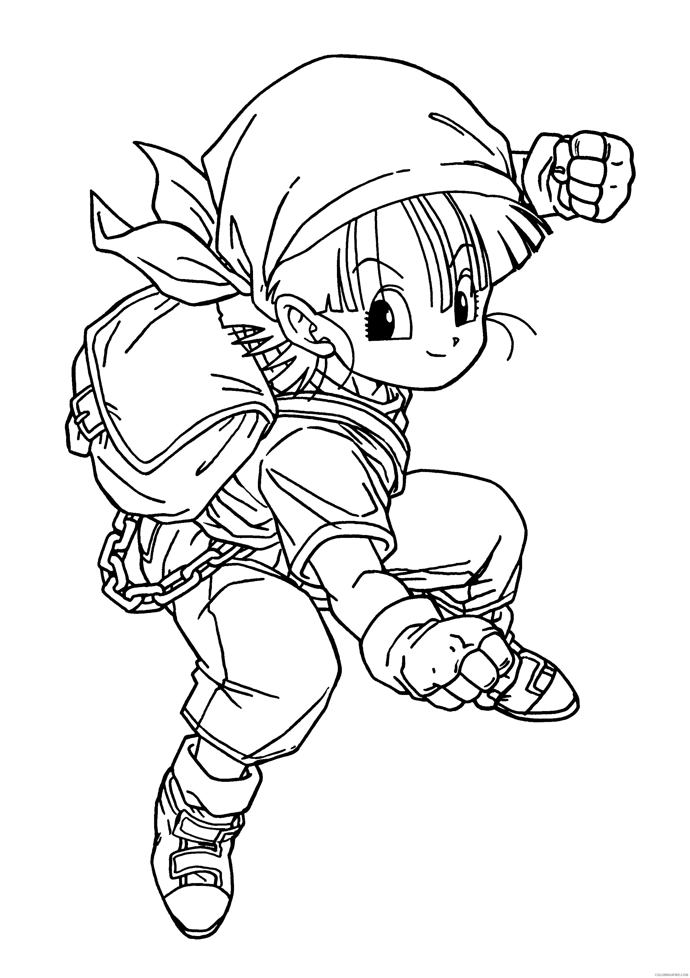 019 dragon ball z Printable Coloring4free