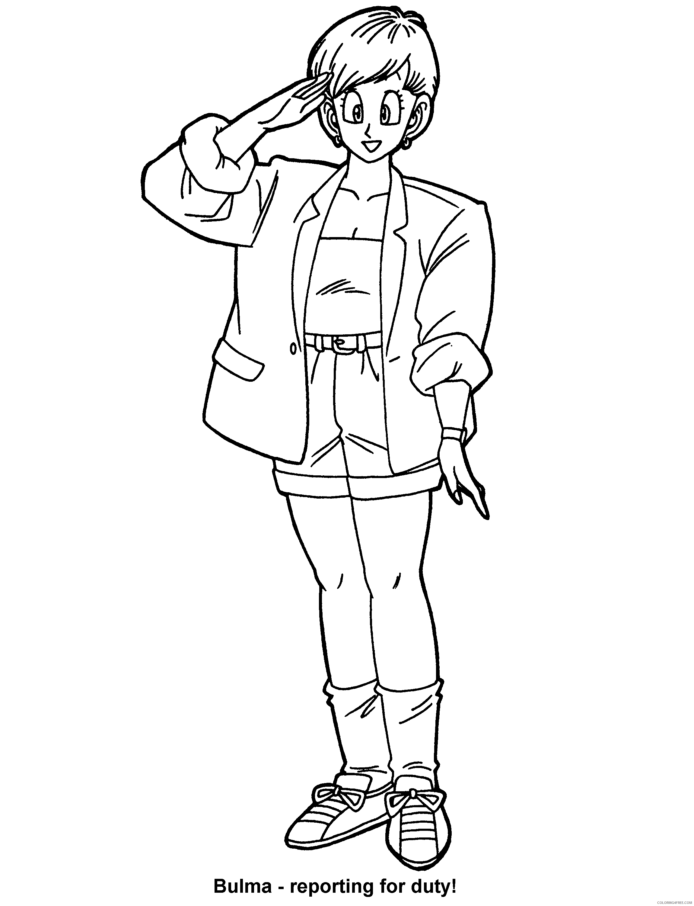 020 dragon ball z bulma reporting for duty Printable Coloring4free
