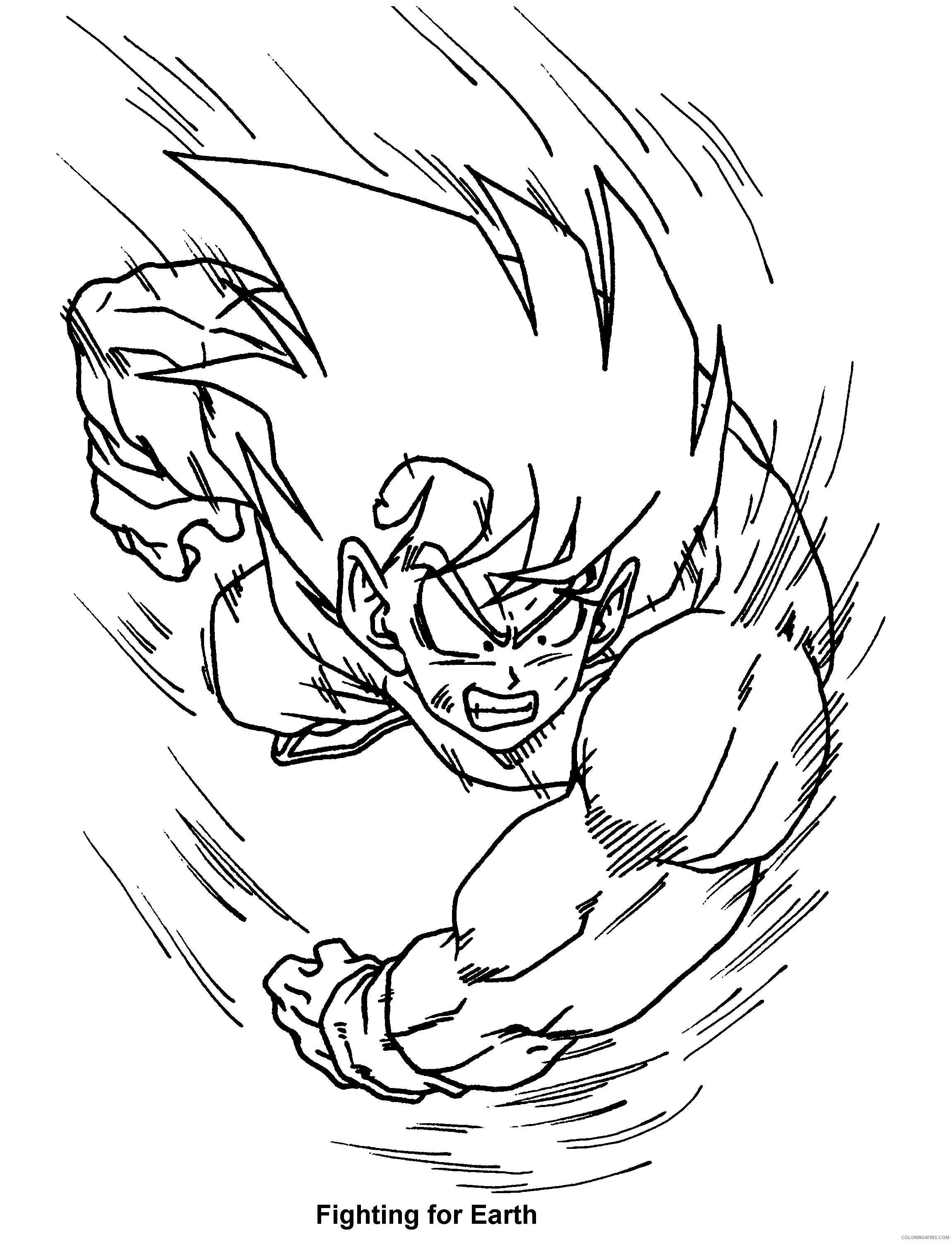 022 dragon ball z fighting for earth Printable Coloring4free