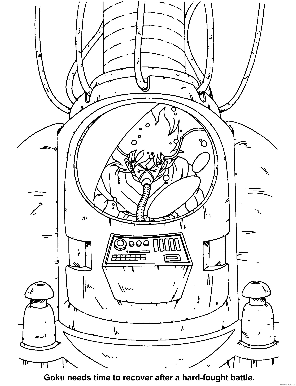 029 dragon ball z goku needs time to recover Printable Coloring4free