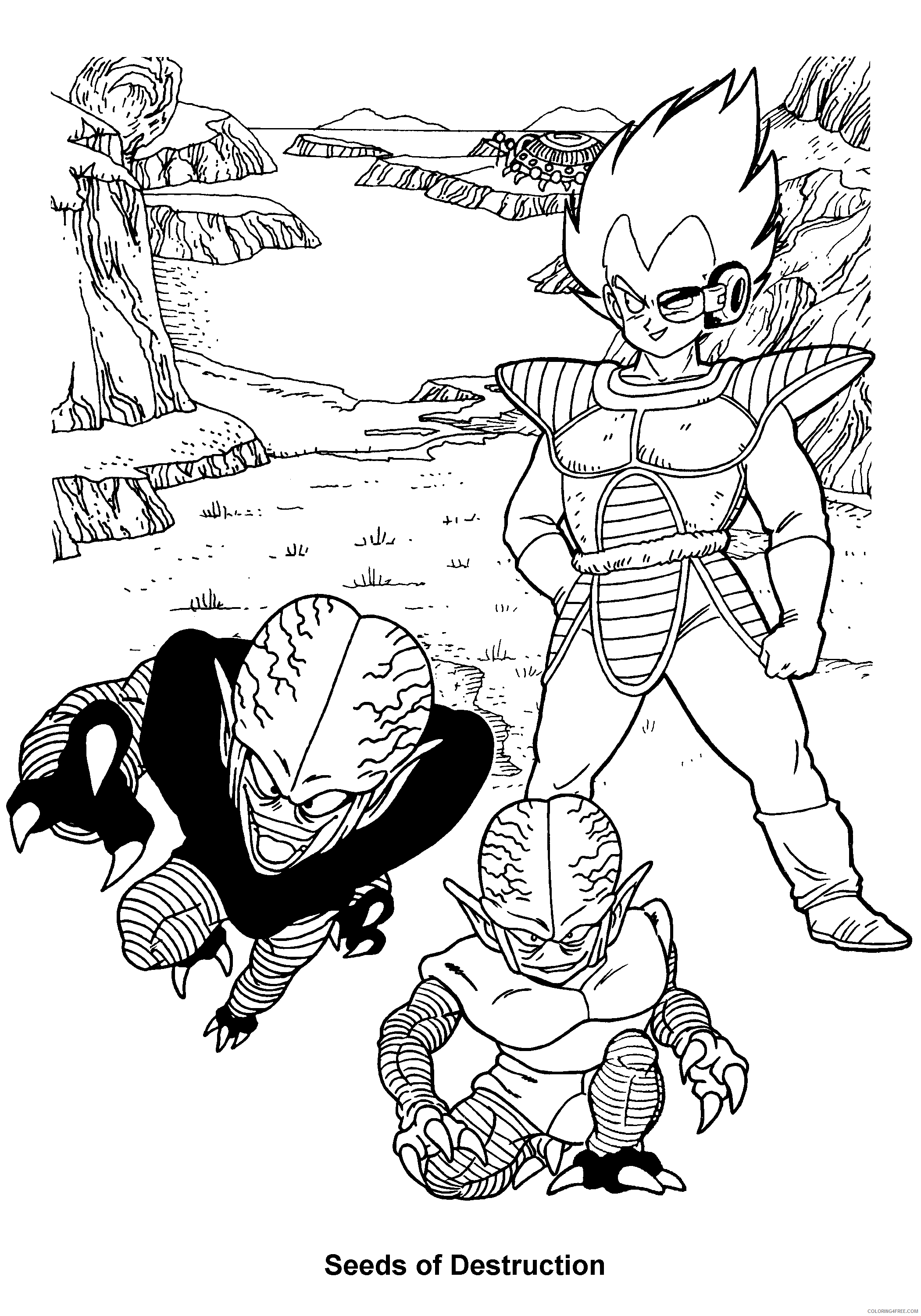 037 dragon ball z seeds of destruction Printable Coloring4free