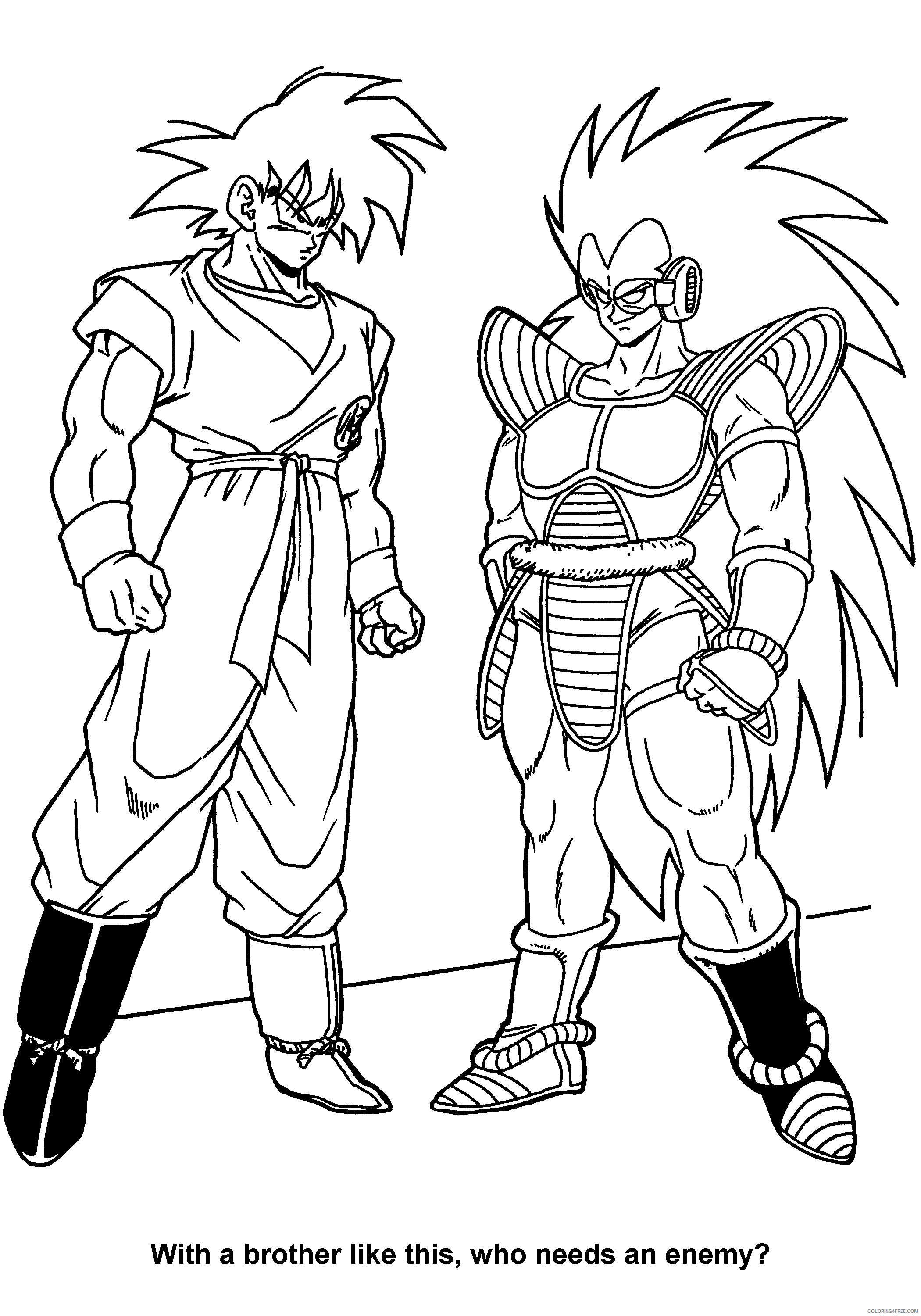 038 dragon ball z with a brother like this who needs an enemy Printable Coloring4free