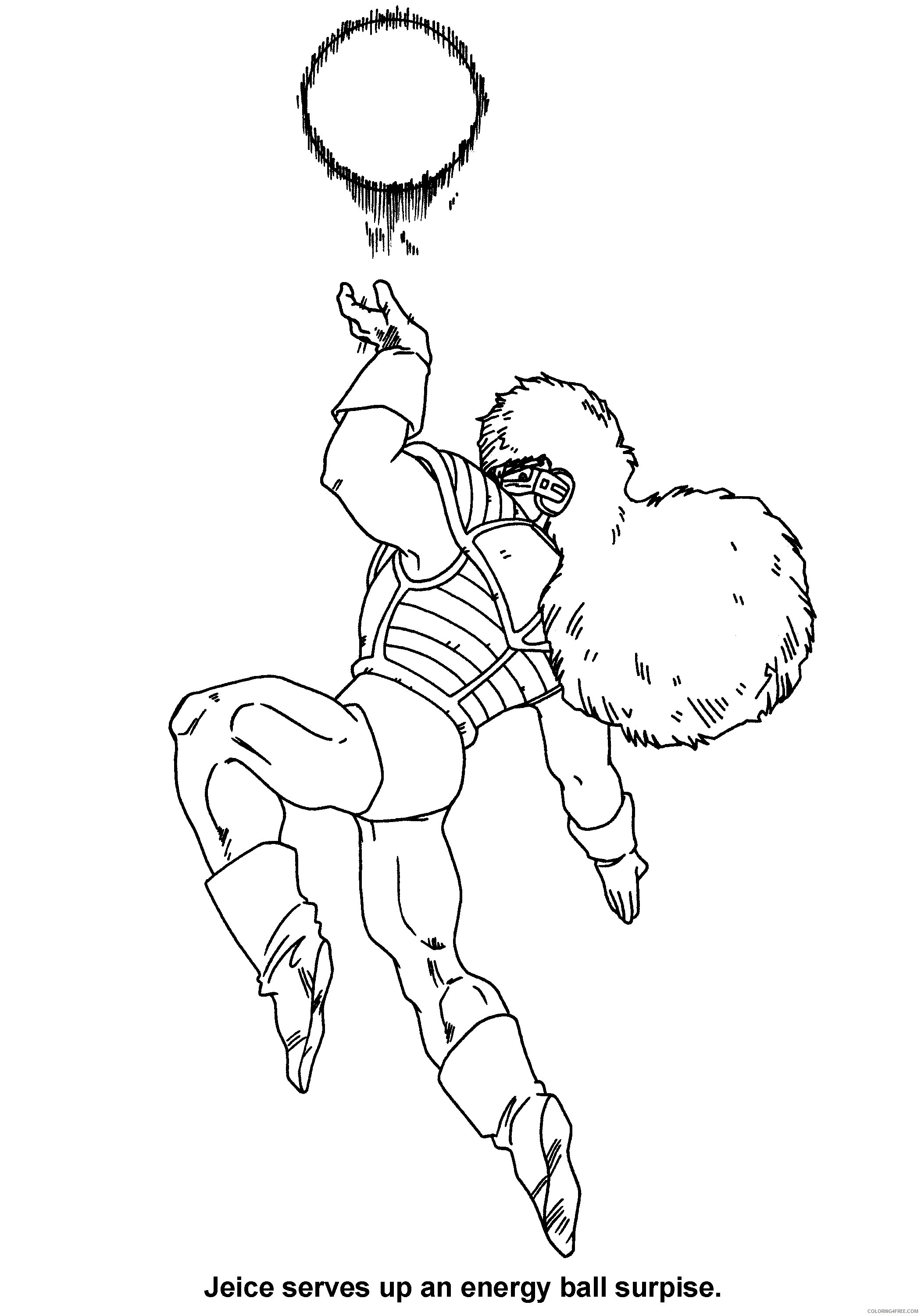 050 dragon ball z jeice serves up an energy ball surpise Printable Coloring4free