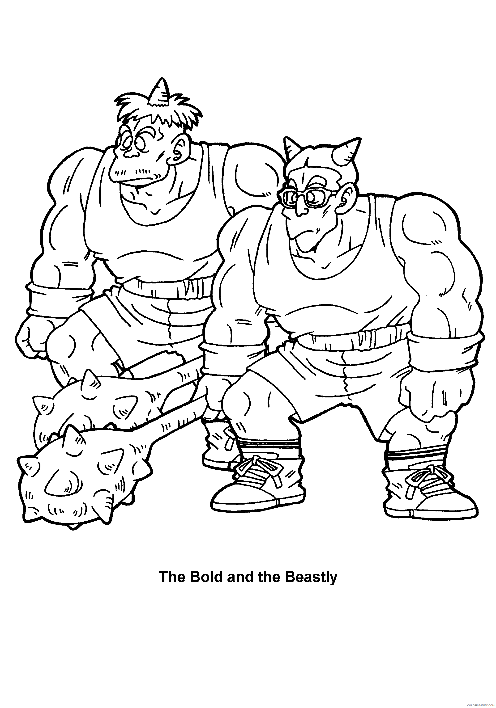 056 dragon ball z the bold and the beasty Printable Coloring4free