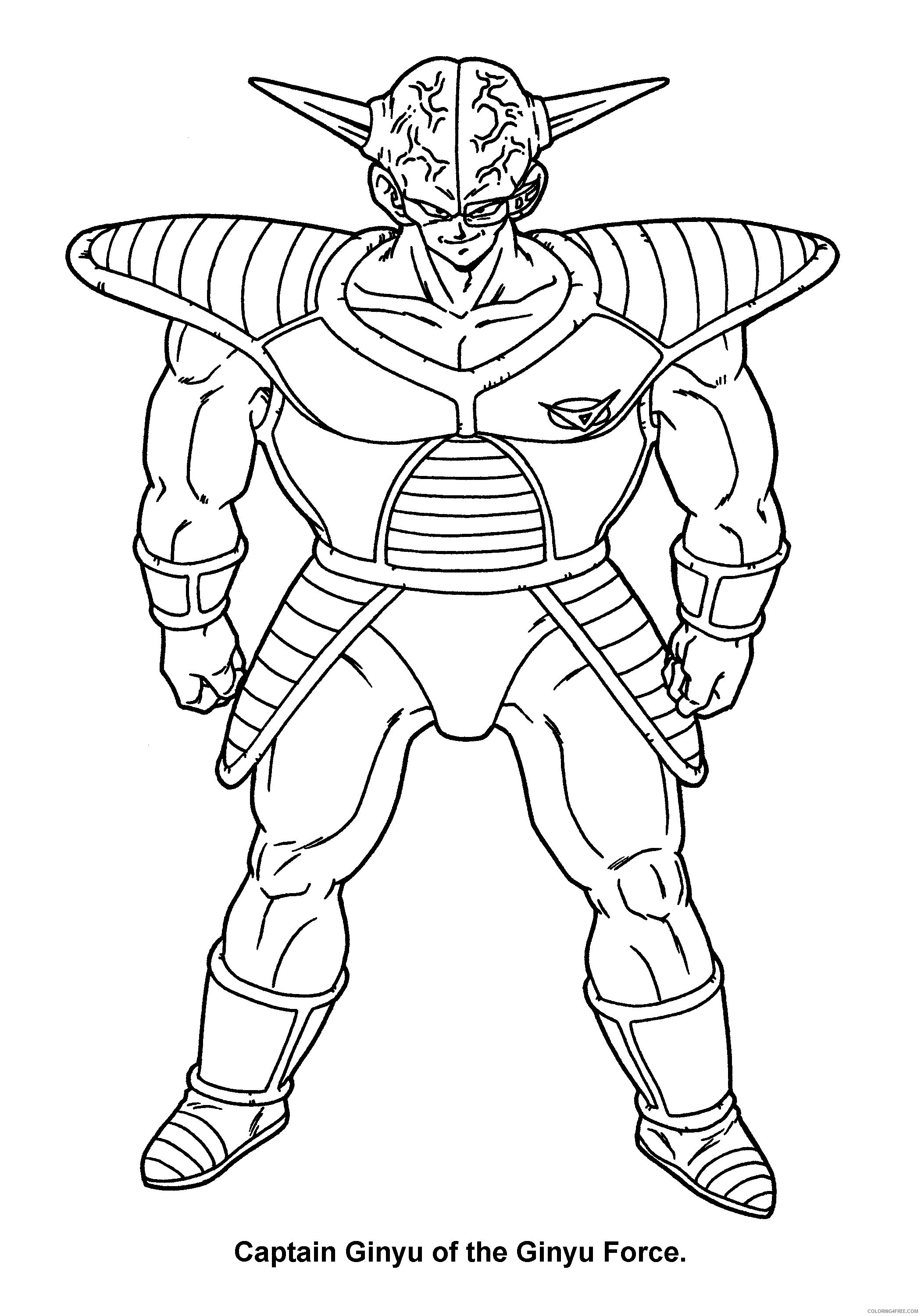 067 dragon ball z captain ginyu of the ginyu force Printable Coloring4free