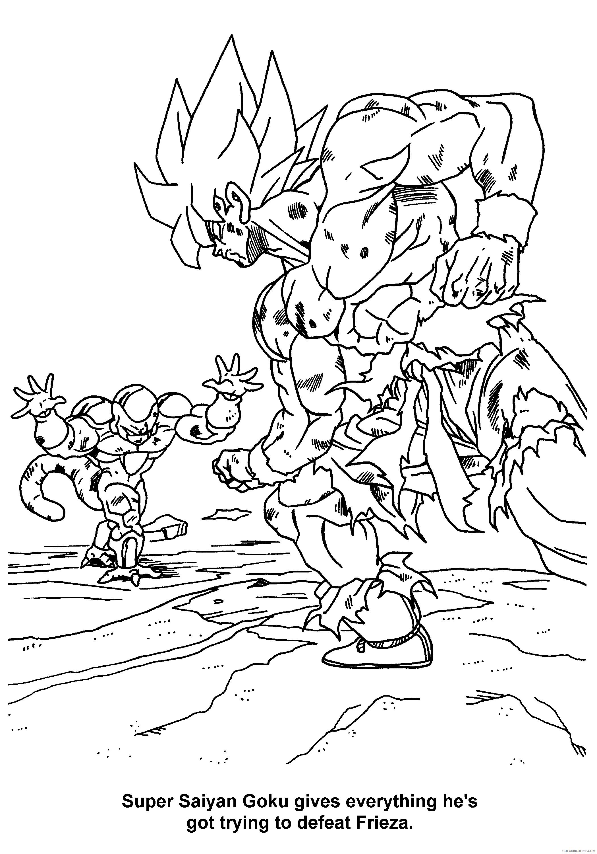 076 super saiyan goku gives everything hes got to defeat frieza