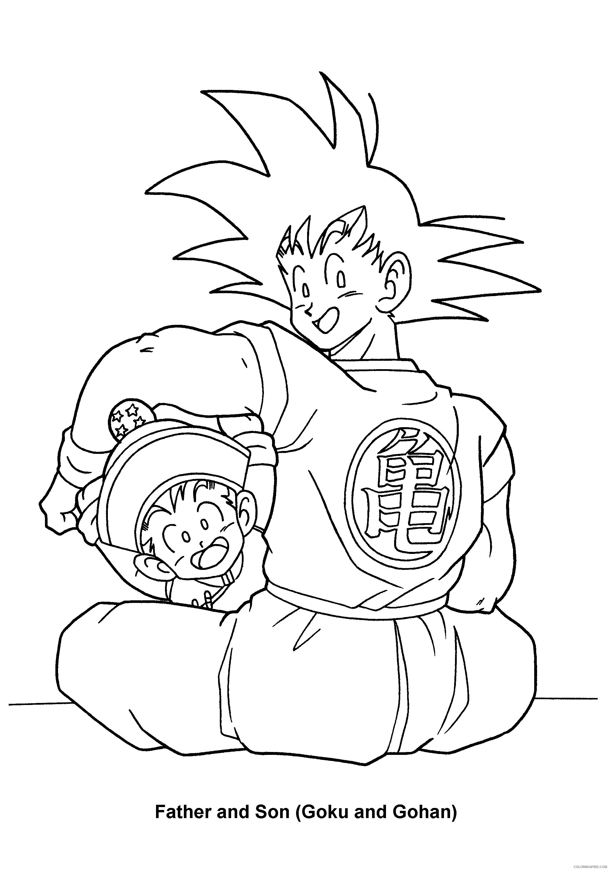 079 dragon ball z father and son goku and gohan Printable Coloring4free