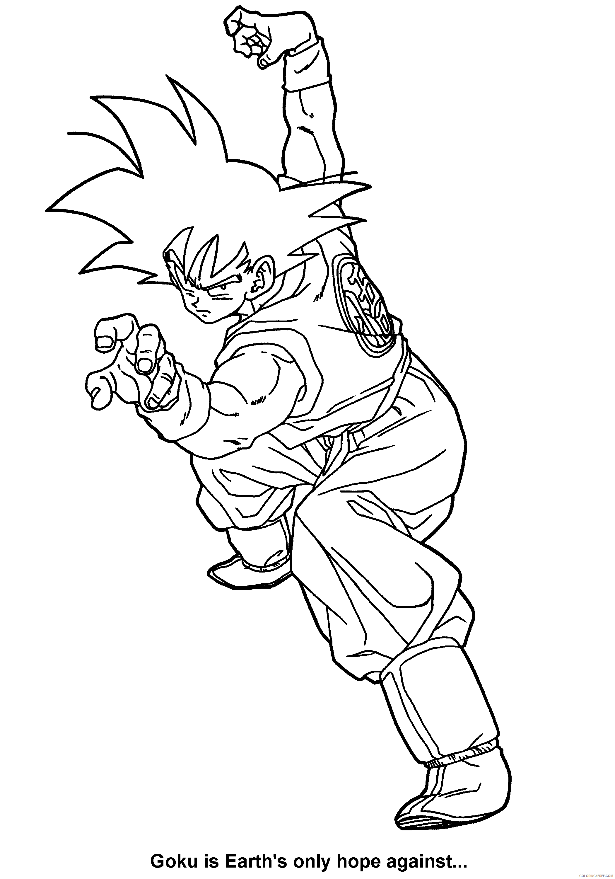 085 dragon ball z goku is earths only hope against Printable Coloring4free