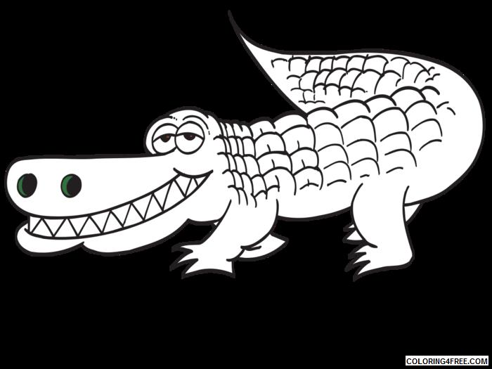 Alligator Coloring Pages alligator outline white alligator outline Printable Coloring4free