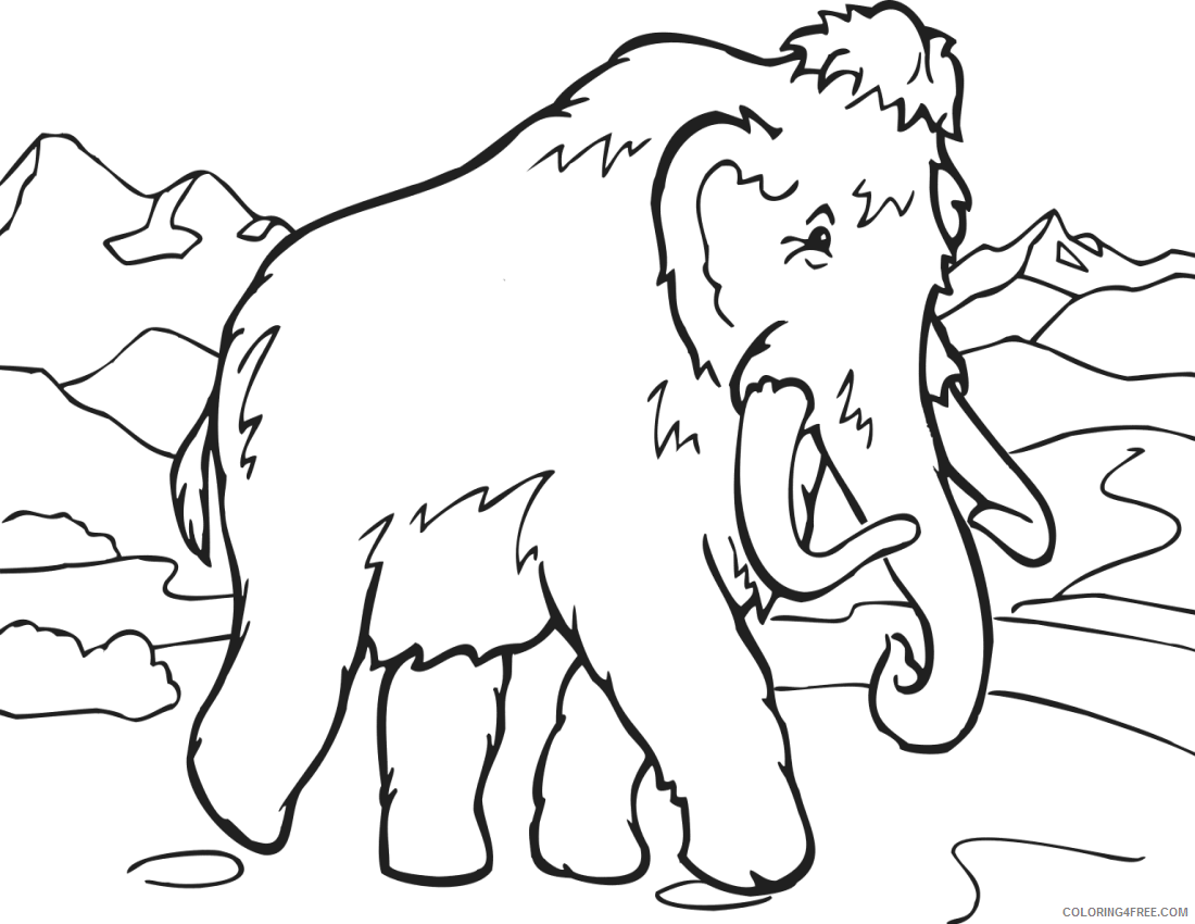 Animal Coloring Pages Coloring Pages book mammoth education pages Printable Coloring4free