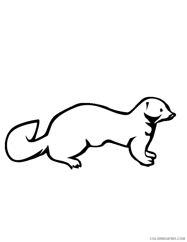 Animal Coloring Pages mink gif Printable Coloring4free