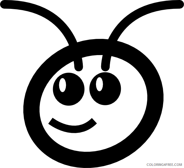 Ant Cartoon Coloring Pages cute cartoon ant head clip Printable Coloring4free