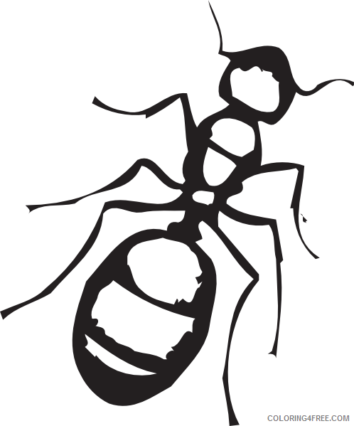 Ants Coloring Pages 1319741700784801253Sketch of an Ant svg Printable Coloring4free