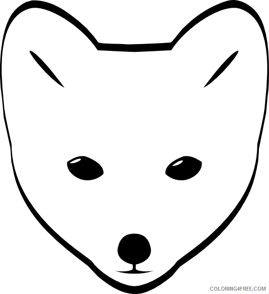 Arctic Fox Coloring Pages clipartist net arctic Printable Coloring4free
