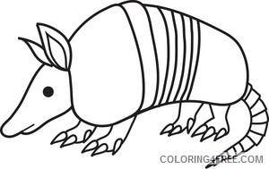 Armadillo Coloring Pages armadillo 4 jpg Printable Coloring4free