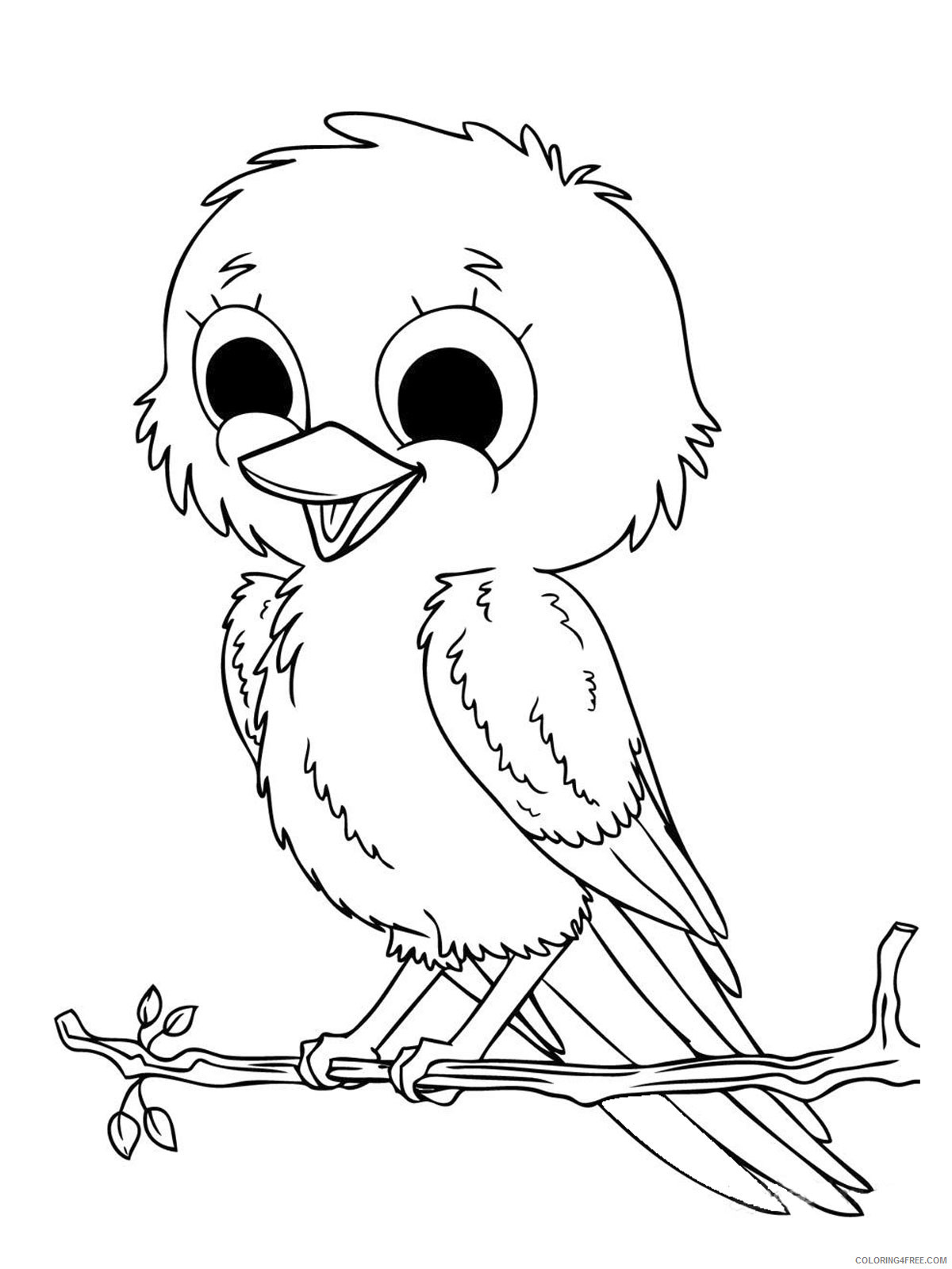 Baby Bird Coloring Pages cute little baby bird jpg Printable Coloring4free