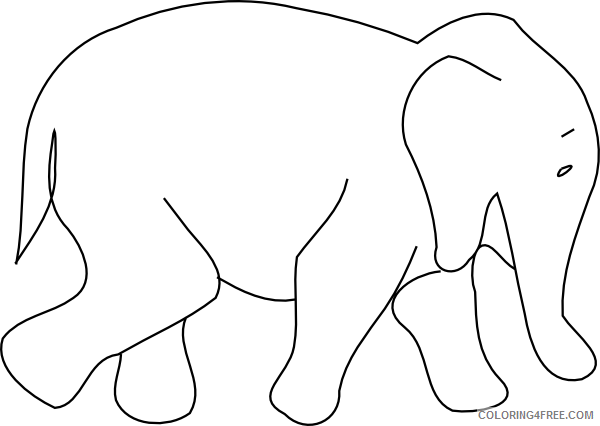 Baby Elephant Coloring Pages baby elephant outline hi png Printable Coloring4free
